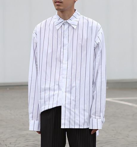 stripe system overshirts(2color)