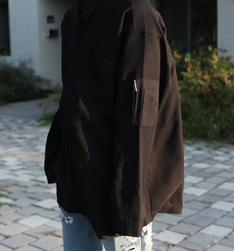 Brick oversized ma-1 shirts (3color)