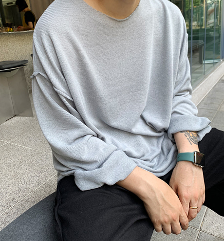 GM. Summer Loose Sleeve Knit (Grey/4color)