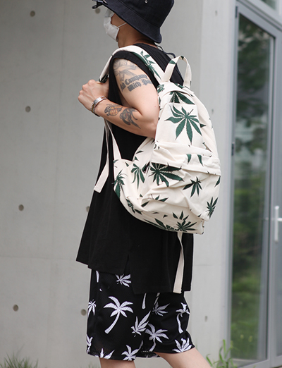 marijuana canvas backpack