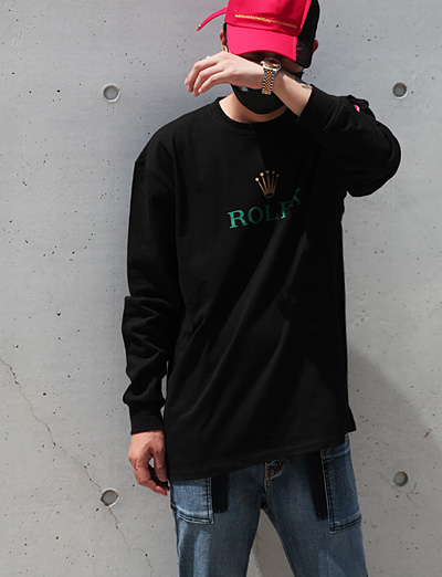 [MAGASIN] Rolx logo long T-shirt (2color)