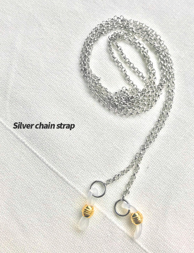[자체제작/단독]glass strap chain (Silver)
