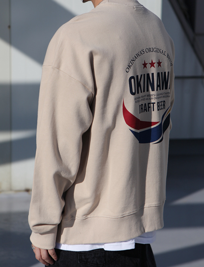 18 SS 오키오키 오키나와 박시맨투맨 (Beige/3color)