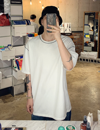unknown stiched over t-shirts (White/3color)