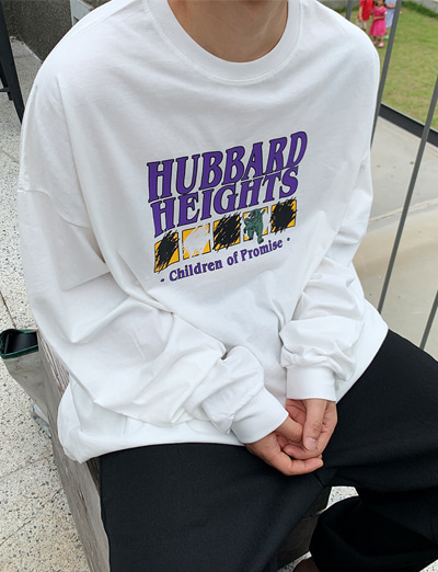 Mp.Summer Hubbard Over Sleeve t-shirt (White/4color)